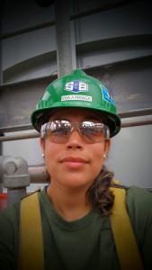 Eva, a graduate of S&B's Women in Construction program and pipefitter helper II.