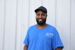 Jonathan, an apprentice electrician at Trio Electric.